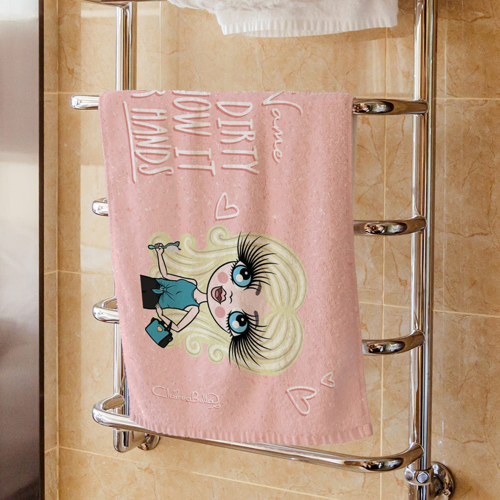 ClaireaBella Girls Happy Hand Towel - Image 1