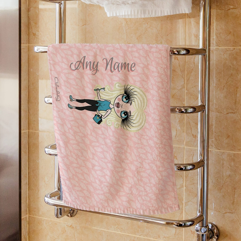 ClaireaBella Girls Pink Hand Towel - Image 1