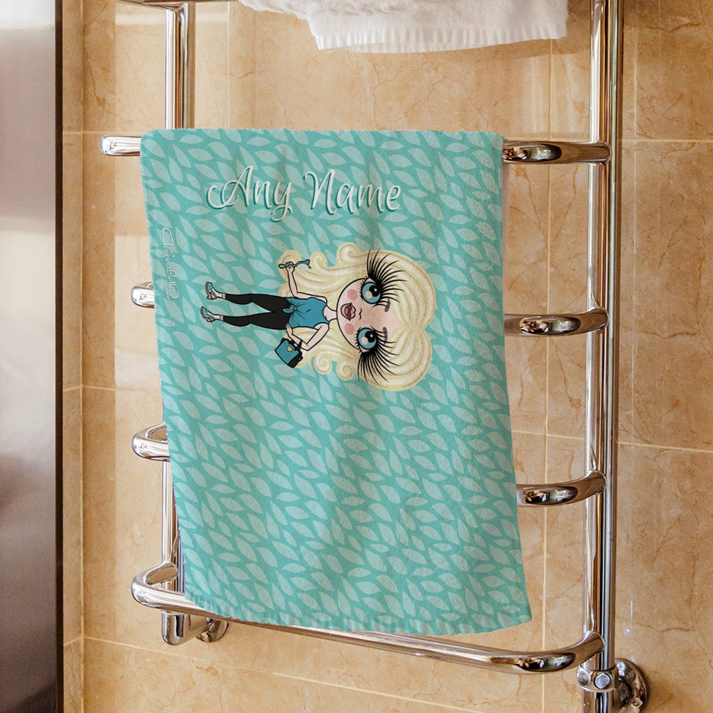 ClaireaBella Girls Turquoise Hand Towel - Image 1