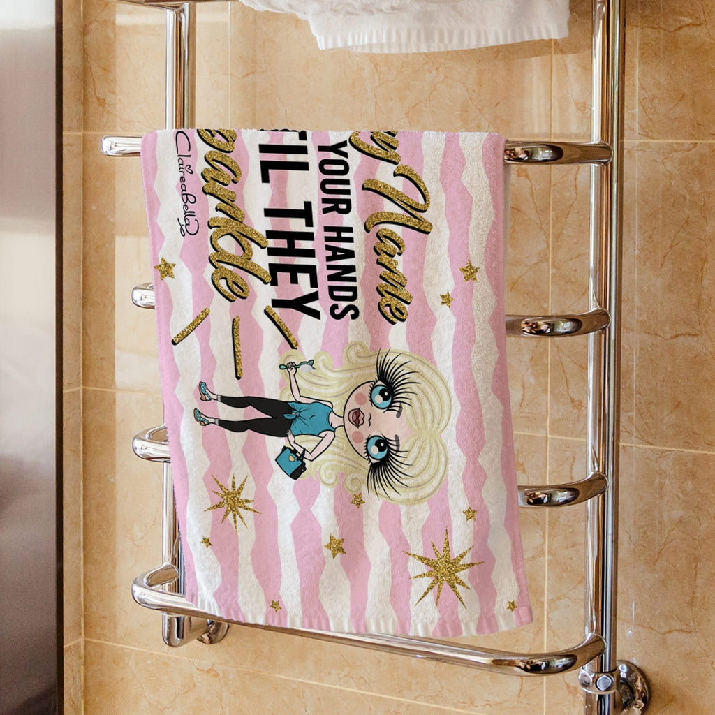 ClaireaBella Girls Sparkle Hand Towel - Image 1