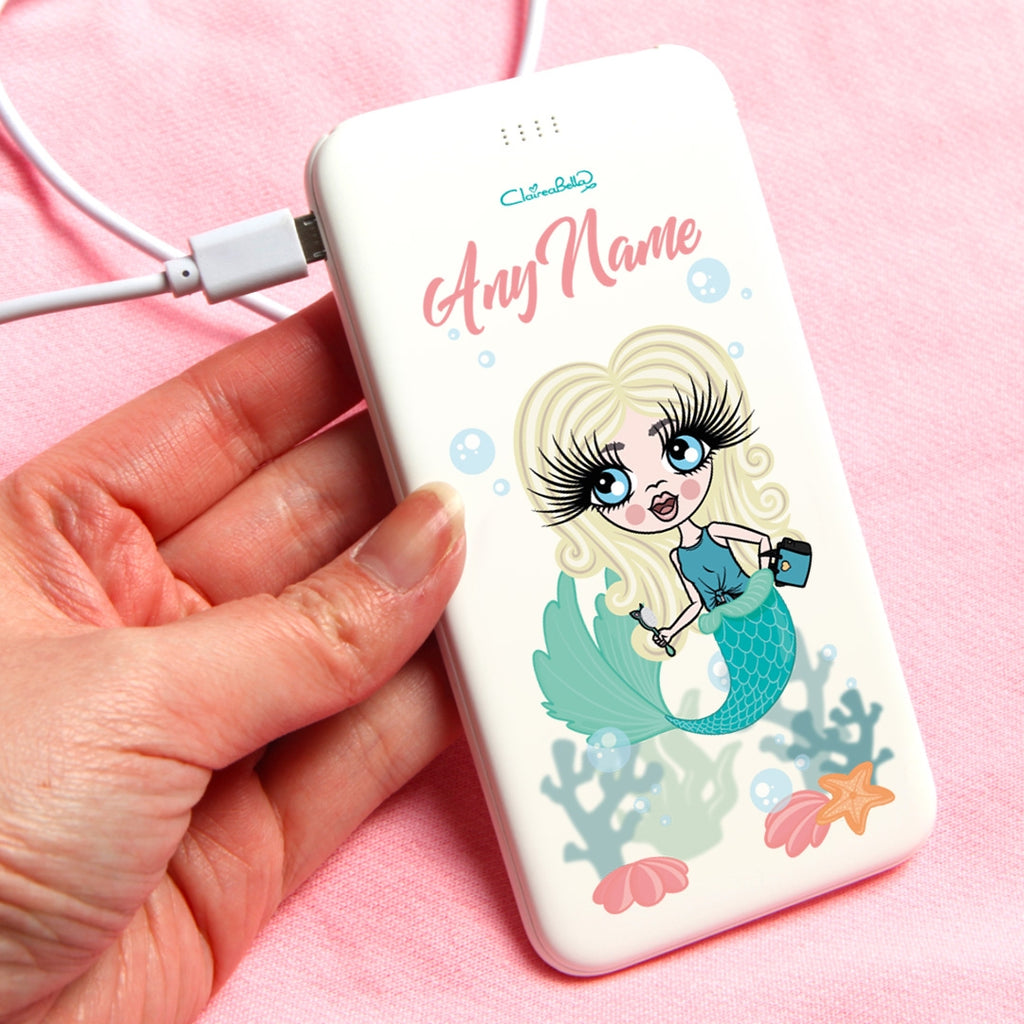 ClaireaBella Girls Mermaid Portable Power Bank - Image 1