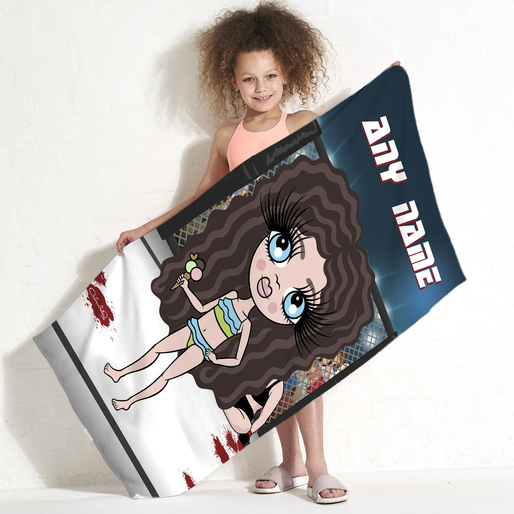 ClaireaBella Girls MMA Master Beach Towel - Image 1