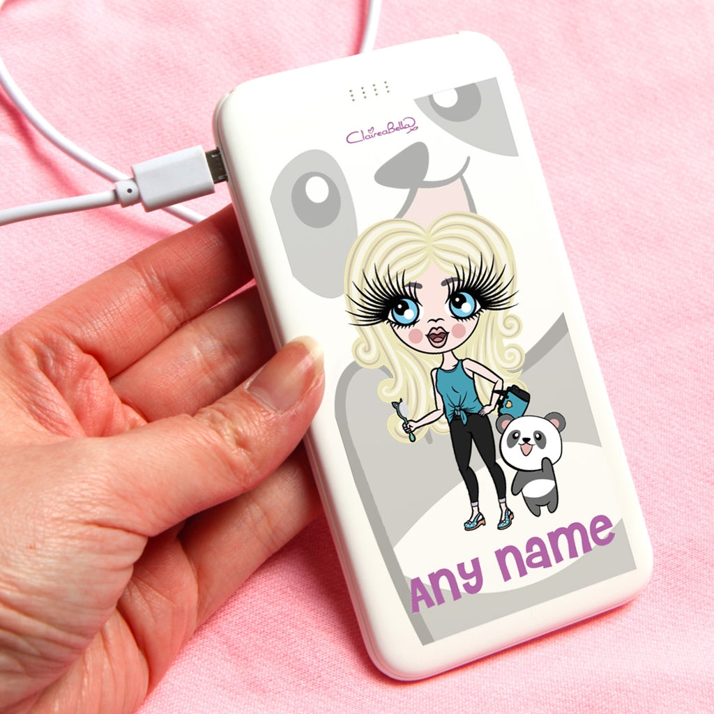 ClaireaBella Girls Panda Portable Power Bank - Image 1