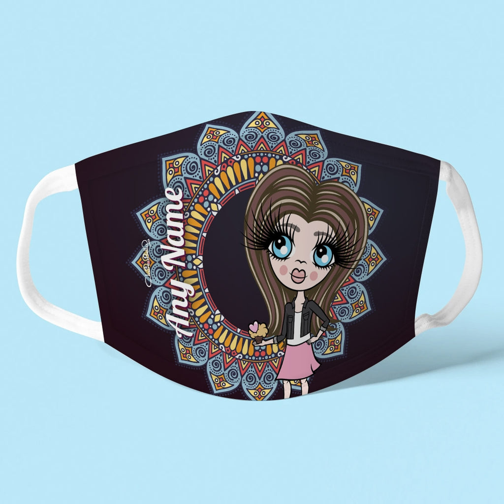 ClaireaBella Girls Personalised Patterned Reusable Face Covering - Image 1