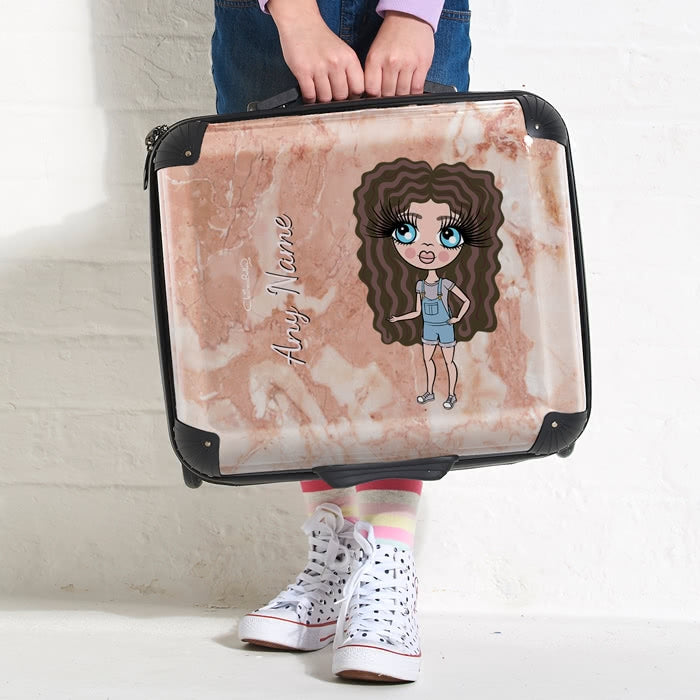 ClaireaBella Girls Marble Effect Weekend Suitcase - Image 3