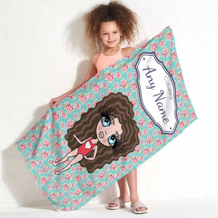ClaireaBella Girls Rose Beach Towel - Image 2