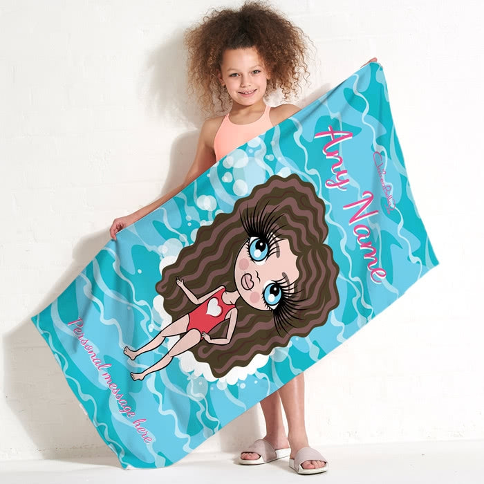 ClaireaBella Girls Pool Beach Towel - Image 1