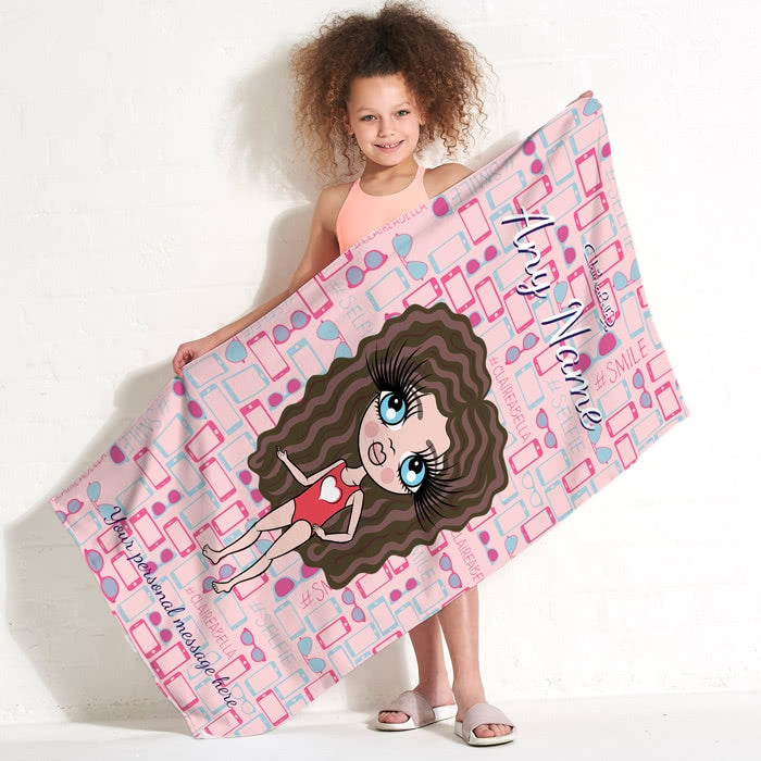 ClaireaBella Girls Selfie Beach Towel - Image 2