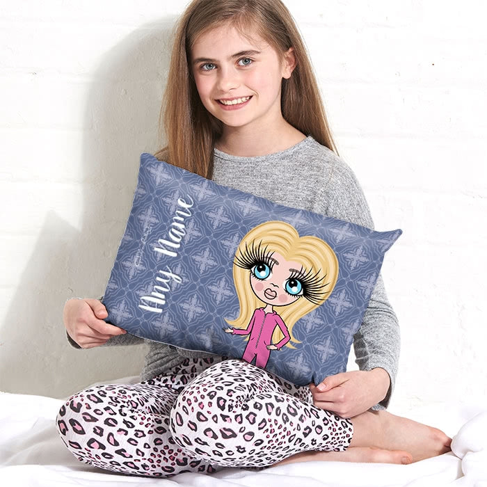 ClaireaBella Girls Placement Cushion - Navy - Image 1