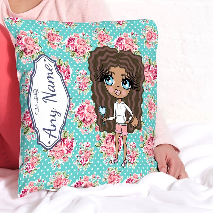 ClaireaBella Girls Square Cushion - Rose - Image 1