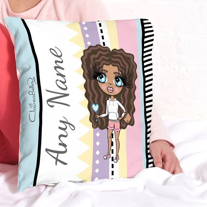 ClaireaBella Girls Square Cushion - Pastel Pop - Image 1