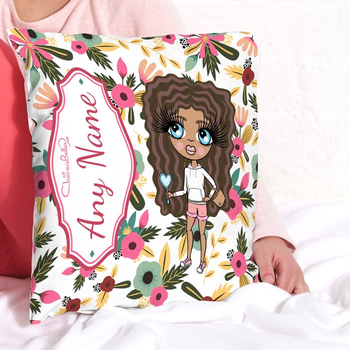 ClaireaBella Girls Square Cushion - Classic Floral - Image 2