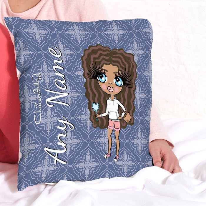 ClaireaBella Girls Square Cushion - Navy - Image 2