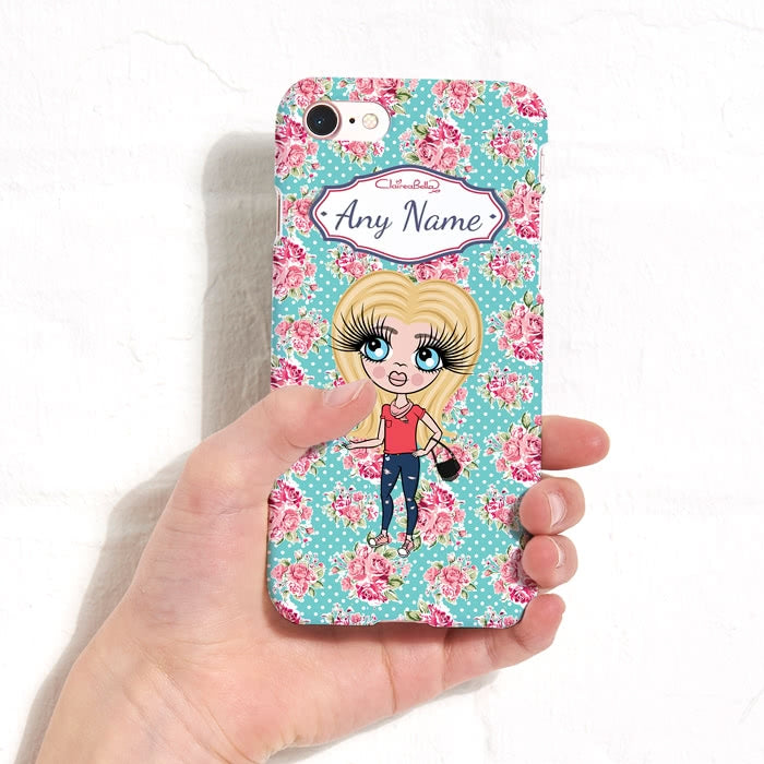 ClaireaBella Girls Personalised Rose Phone Case - Image 5