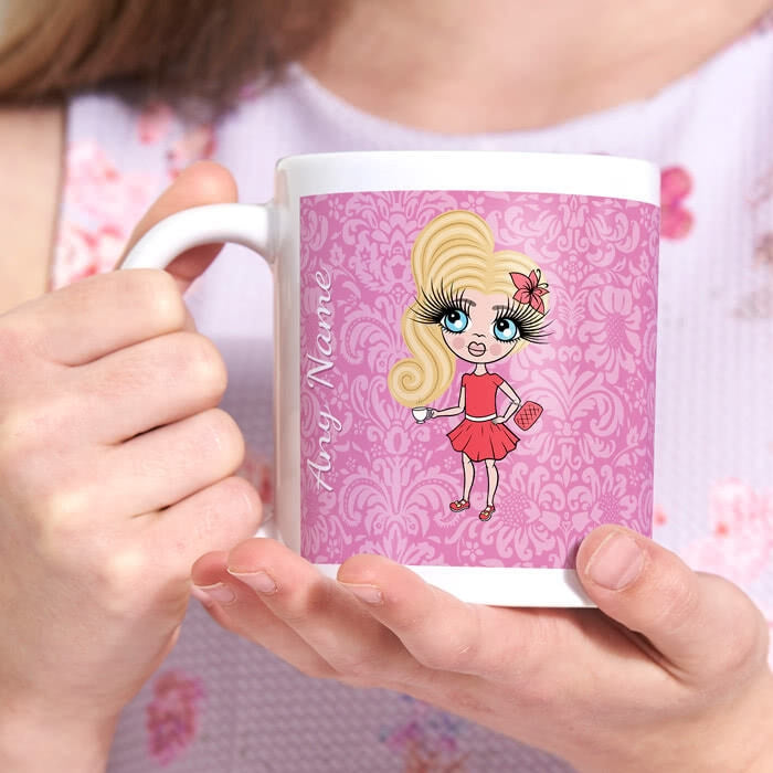 ClaireaBella Girls Lilac Floral Mug - Image 3