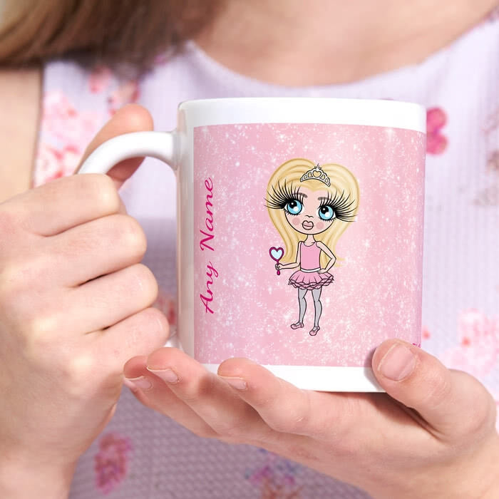 ClaireaBella Girls Baby Pink Glitter Mug - Image 3