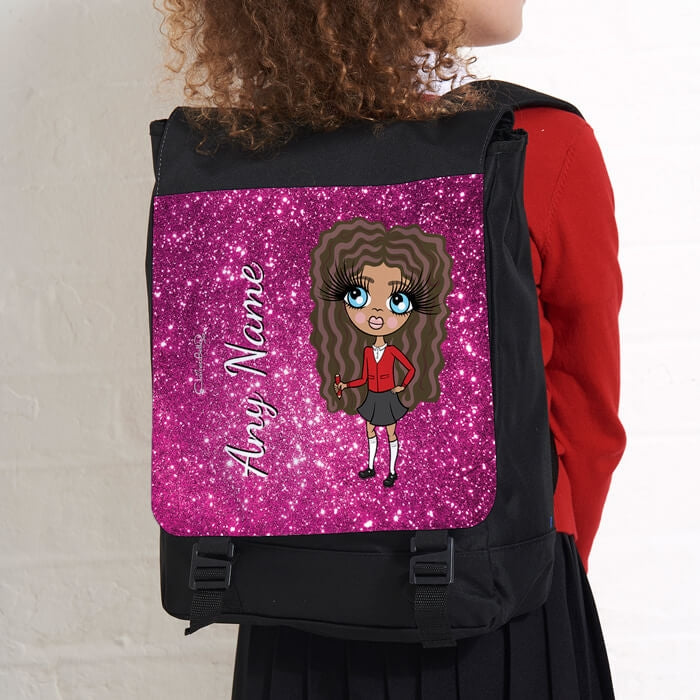 ClaireaBella Girls Glitter Effect Large Backpack - Image 2