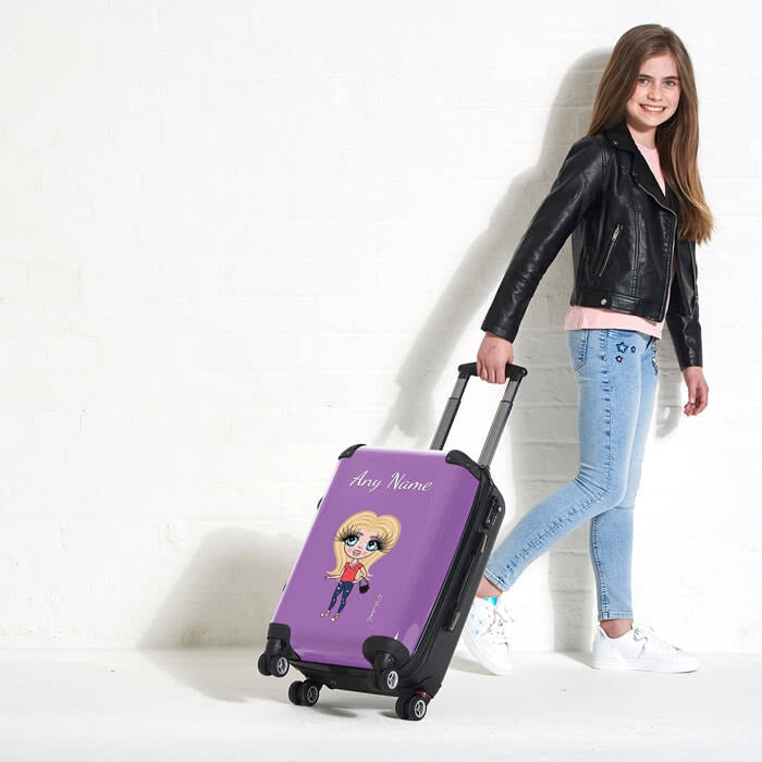 ClaireaBella Girls Purple Suitcase - Image 4
