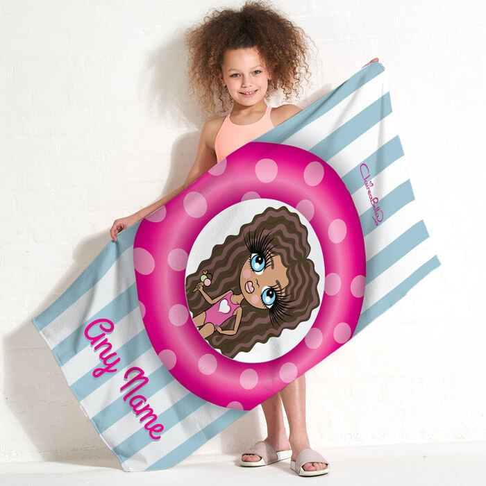 ClaireaBella Girls Pool Party Beach Towel - Image 1