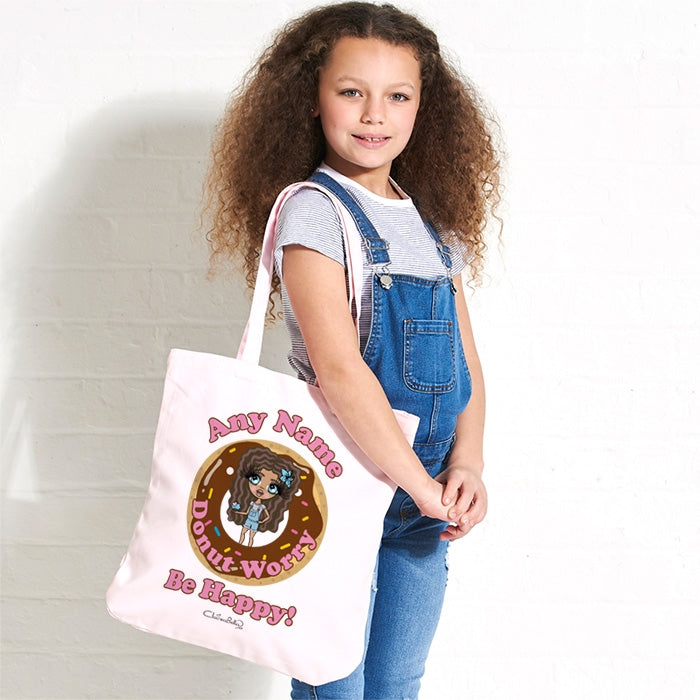 ClaireaBella Girls Donut Pastel Canvas Shopper - Image 1