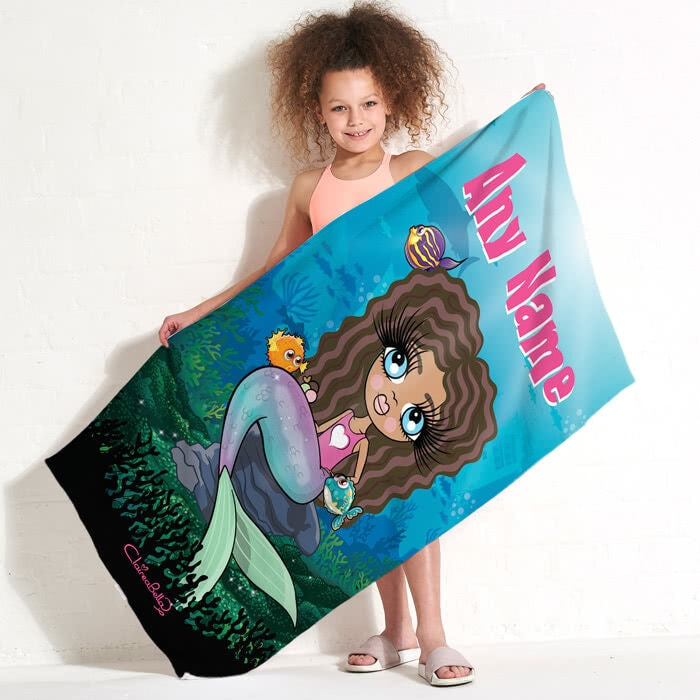 ClaireaBella Girls Mermaid Beach Towel - Image 1
