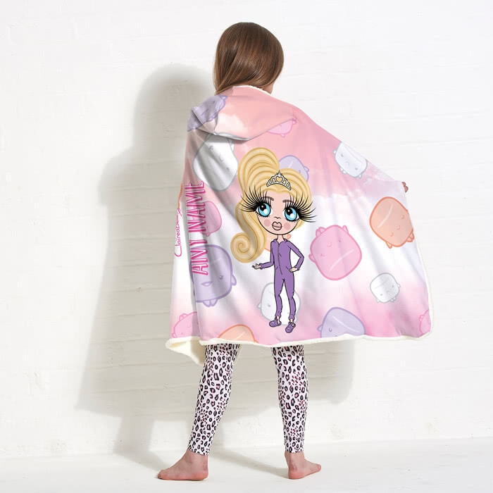 ClaireaBella Girls Marshmallow Hooded Blanket - Image 6
