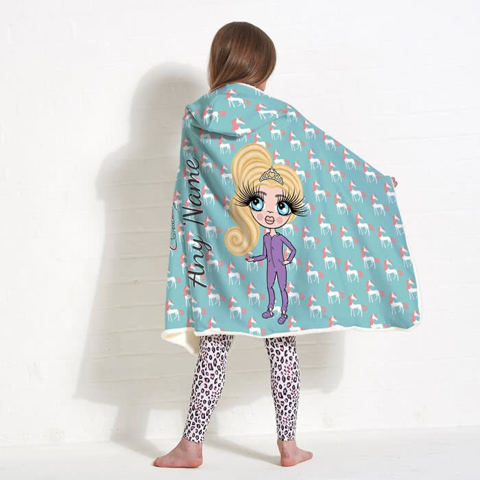 ClaireaBella Girls Unicorns Hooded Blanket - Image 4