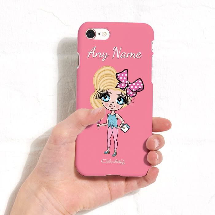 ClaireaBella Girls Personalised Pink Phone Case - Image 4