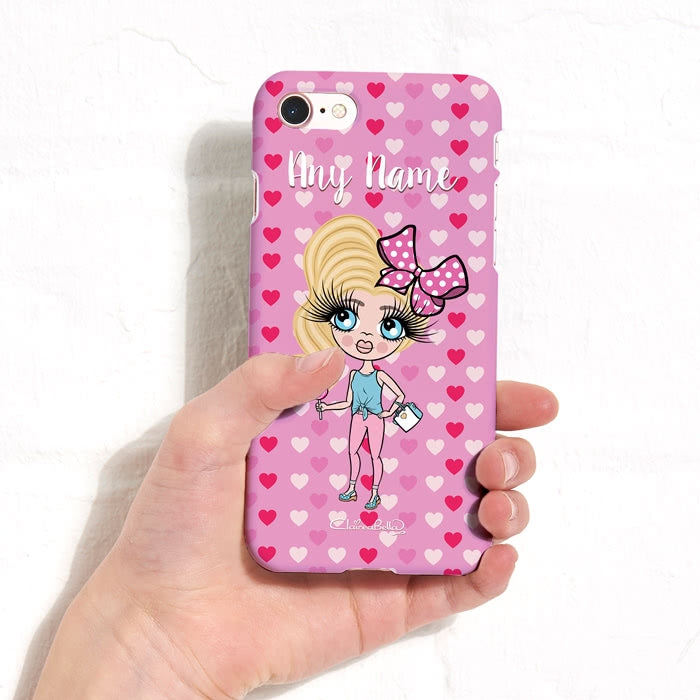 ClaireaBella Girls Personalised Hearts Phone Case - Image 3