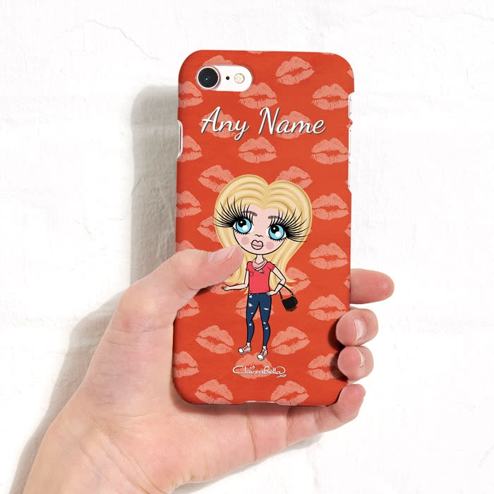 ClaireaBella Girls Personalised Lip Print Phone Case - Image 3