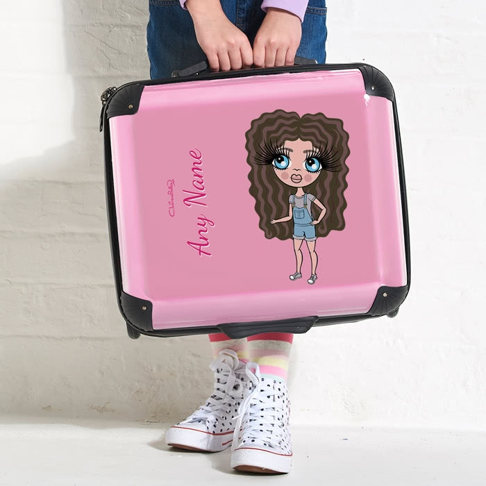 ClaireaBella Girls Pastel Pink Weekend Suitcase - Image 2