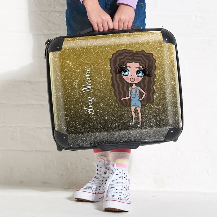 ClaireaBella Girls Ombre Glitter Effect Weekend Suitcase - Image 3