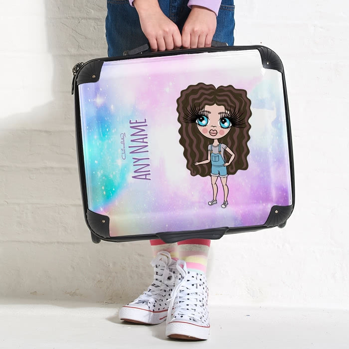 ClaireaBella Girls Unicorn Colours Weekend Suitcase - Image 3
