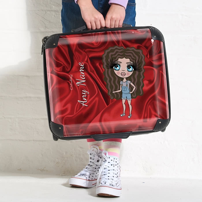 ClaireaBella Girls Silky Satin Effect Weekend Suitcase - Image 2
