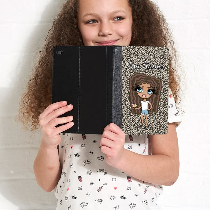 ClaireaBella Girls Leopard Print iPad Case - Image 1