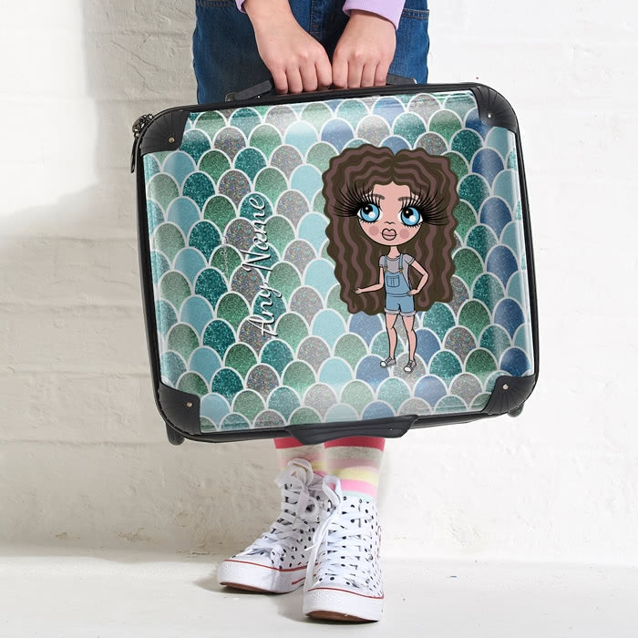 ClaireaBella Girls Mermaid Glitter Effect Weekend Suitcase - Image 4