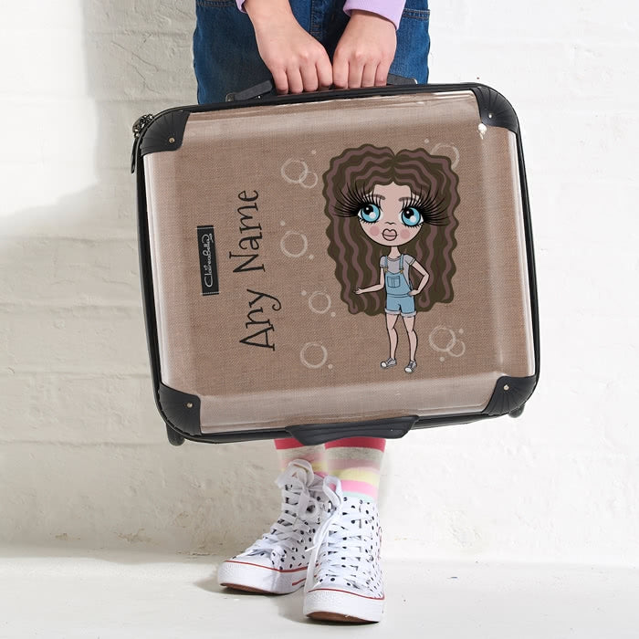ClaireaBella Girls Jute Print Weekend Suitcase - Image 2
