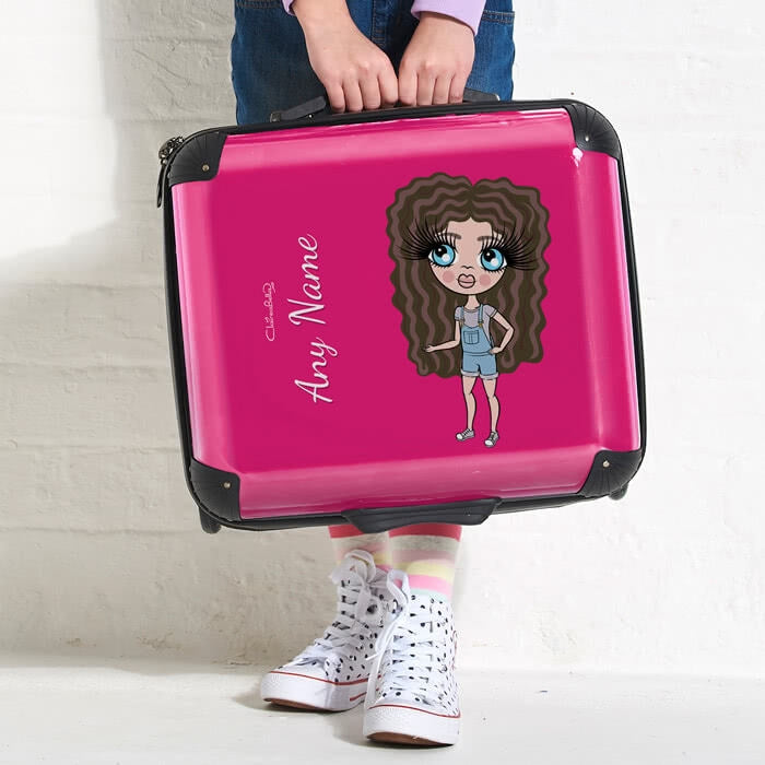 ClaireaBella Girls Hot Pink Weekend Suitcase - Image 2