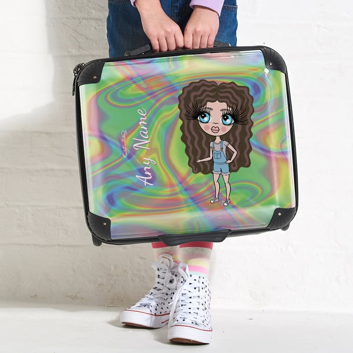 ClaireaBella Girls Hologram Weekend Suitcase - Image 2
