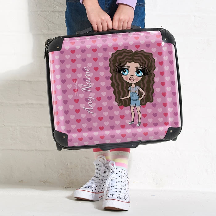 ClaireaBella Girls Hearts Weekend Suitcase - Image 3