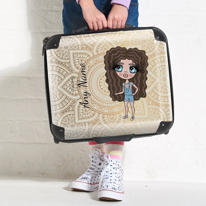 ClaireaBella Girls Golden Lace Weekend Suitcase - Image 4