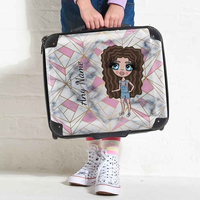 ClaireaBella Girls Geo Print Weekend Suitcase - Image 2