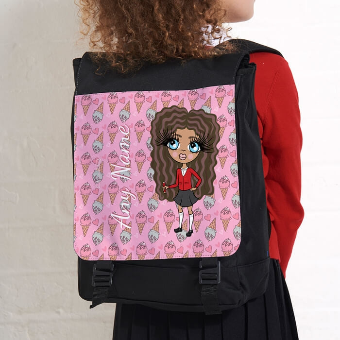 ClaireaBella Girls Ice Cream Large Backpack - Image 2