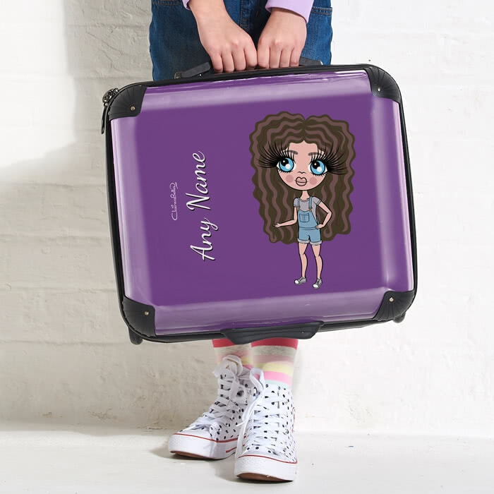 ClaireaBella Girls Purple Weekend Suitcase - Image 2