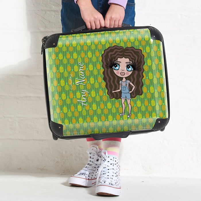 ClaireaBella Girls Pineapple Print Weekend Suitcase - Image 2