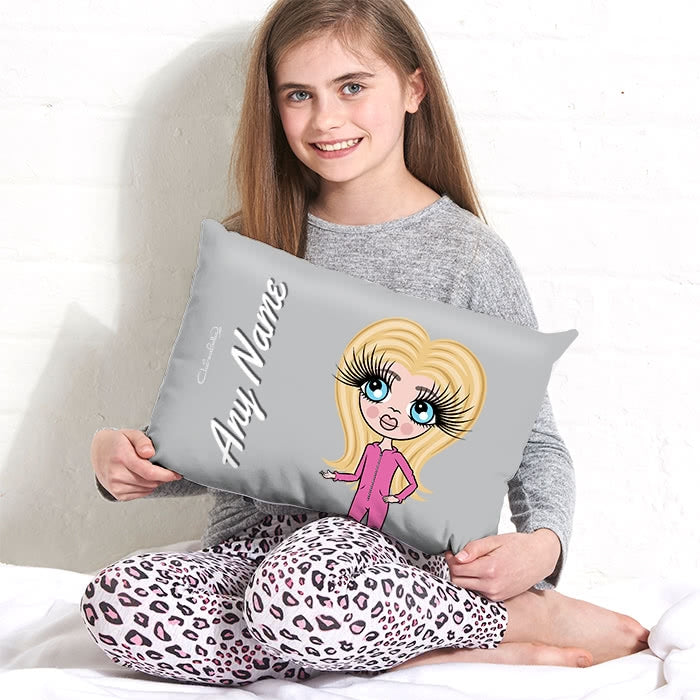 ClaireaBella Girls Placement Cushion - Light Grey - Image 1
