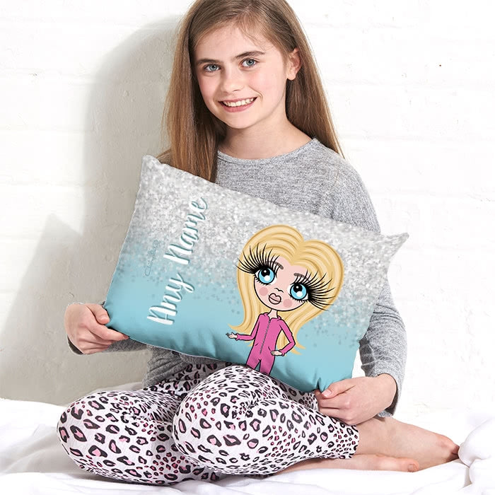ClaireaBella Girls Placement Cushion - Crystal Blue - Image 2