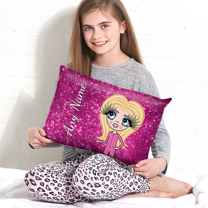 ClaireaBella Girls Placement Cushion - Glitter Print Effect - Image 1
