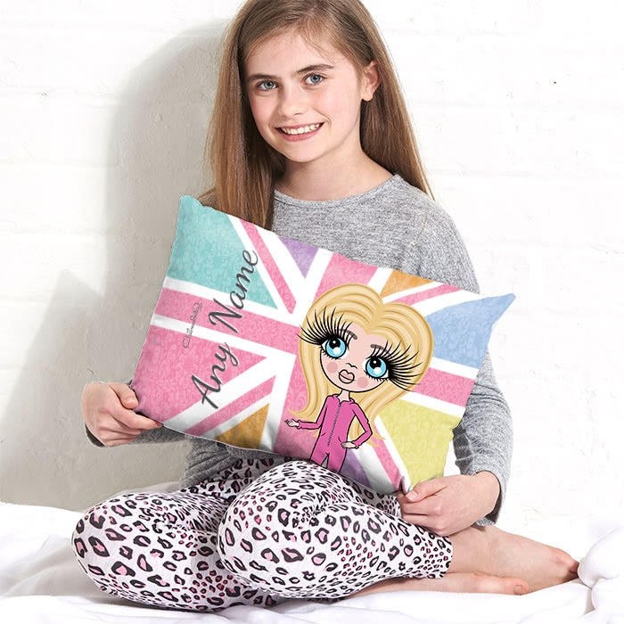 ClaireaBella Girls Placement Cushion - Union Jack - Image 1