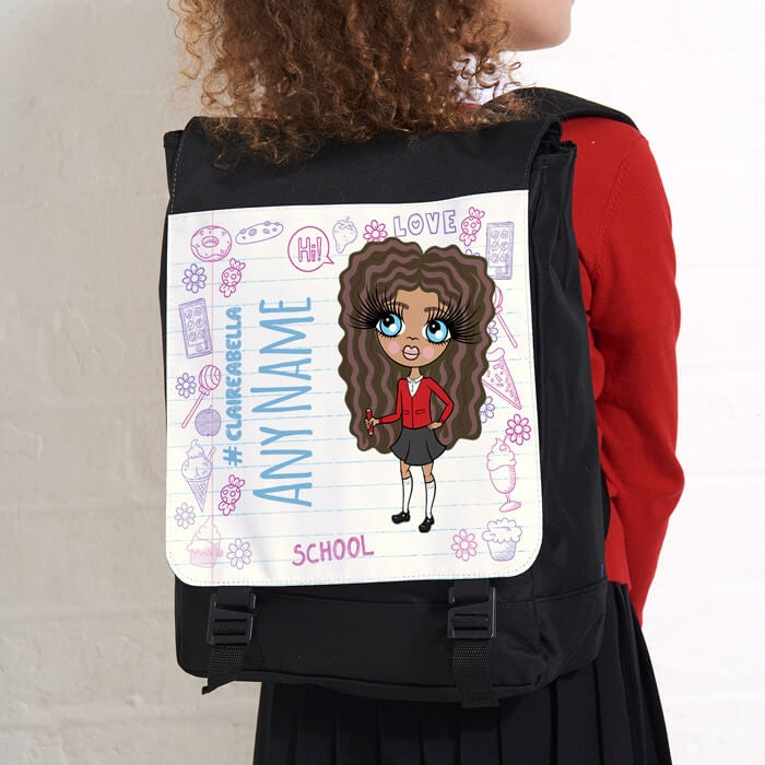 ClaireaBella Girls Notebook Print Large Backpack - Image 2